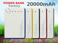 Wholesale NEW mAh Power Bank External Battery Backup USB Portable Cell Phone Chargers For Phone FREE UPS
