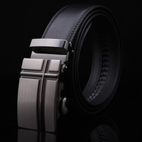Wholesale Man Belts Korean Automatic Buckle Genuine Leather Gentleman Commerce Ware Black Cross Drop Shipping