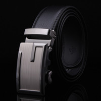 Wholesale Man Belts Korean Automatic Buckle Genuine Leather Gentleman Commerce Ware Black G Shape Drop Shipping