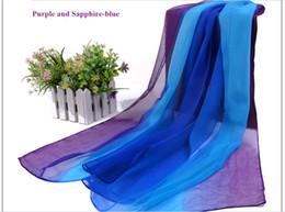 Wholesale New gradient ramp georgette scarf