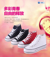 Wholesale Spring increased within the new sweet Korean women canvas shoes soled platform shoes high tide to help students shoes