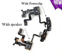 Wholesale For iPhone S Proximity Light Sensor Power Button Flex Cable On Off Ribbon Mic Microphone Flat High Quality