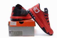Wholesale June Newest Arrivals Red KD Basketball Shoes For Men Online Retro Brand Men Sport Shoes Gread Quality Footwear Sneaker Trainers Shoes