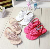 Wholesale Wholesales summer new Baby Kids Children s grils princess flower beach sandals shoes YM