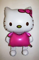 Wholesale 36 inches Hello kitty ultra large cartoon aluminum balloons birthday party decoration classic toys for children amusement gifts for kids