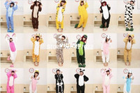 Wholesale Kigurumi Pajamas All in One Pyjama Animal Suits Cosplay Costumes Adult Garment Flannel Cute Cartoon Animal Onesies Sleepwears