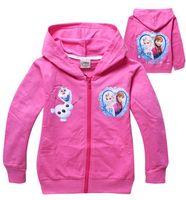 Girl hooded sweat jackets - frozen Cartoon Children s Jackets Children s Outwear boys girls Hoodies Frozen outerwear Child Long sleeve hoodies Kid apparel Cartoon sweat