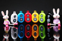 Wholesale 6 colors wireless Bluetooth Remote photo Camera Control Self timer AB Shutter for iPhone S Galaxy S4 S5 Note3 M8 Android Smart phone