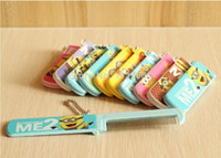 Wholesale Mirror Comb in Creative Pretty Oval Shape Cartoon Despicable Me Minion For Gift Novelty