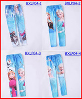 Leggings & Tights Girl Spring / Autumn Hot sale 2014 new style Frozen girls autumn cartoon long pants children cotton leggings princess Elsa Anna Olaf kids tights 6pcs lot 4-10T