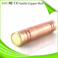 Cheap Vanilla copper mech mod mechanical mod clone e cig vaporizer pen ecig VS stingray stainless nemesis 26650 panzer and kayfun atomizer DHL