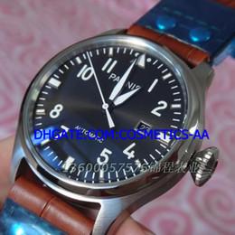 vente usine LUXURY 47 mm grand pilote automatique mâle tableau rivet couleur gun bracelet cadran en cuir à partir de bracelet en cuir pilote fabricateur