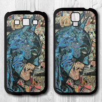 Wholesale Retro Vintage Batman Comic Book Protective Black Hard Cover Case For Samsung Galaxy S4 i9500 S3 i9300