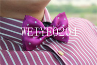 Wholesale 5PCS Fashion Color solid High quality bow tie men bowtie commercial dot bow tie male solid color marriage bow tie