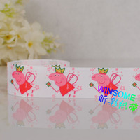 Wholesale yards quot mm white color peppa pig cartoon print grosgrain ribbon lovely princess girl pig DIY ribbon