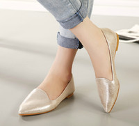 Wholesale 3 Colors Hot Sell Women s Flat Heel Pointed Shoes Lady s Dress Shoe Women Casual Shoes S700