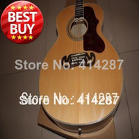 guitar - new arrival j200 jumbo acoustic guitar inches solid spruce top AAA flame maple back and side