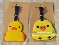 Unisex age Movie & TV New 2pcs set Rubber Duck luggage tag BAG TAG School bag key chain ring kids toys Christmas gift minion toy minions movie anime