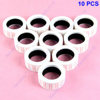 D2835   Free Shipping 10 Rolls Price Labels Paper Tag Mark Sticker For MX-5500 Price Gun Labeller