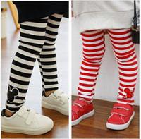 Wholesale Spring Children Pants Kids Pants Striped Children Pants Girls Trousers Girl Leggings Years Old
