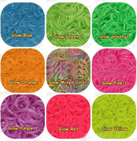 Big Kids Multicolor Rubber Rainbow Loom Refill Rubber Bands 600 Pcs & 24 Clips - Neon, Glow in the Dark