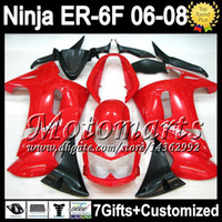 Wholesale 7gifts Customize Stock red For KAWASAKI NINJA R ER F M53 NINJA650 Hot Glossy red ER6F ER F Fairing