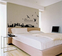 Wholesale Big Sketch Paper Cut Like Silhouette Of Sydney Decal Vinyl Wall Stickers PVC Decor DIY Home Art Wallpaper Room House Poster