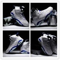 Wholesale Famous Trainers Retro VI Brazil Men s Sports Basketball Shoes White Sport Blue Size