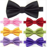 Wholesale New Arrival Hot Sale Colorful Rich Noble Pane Bridal Groom Bow Ties Party Ties Business Tie Mix colour