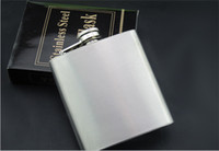 Wholesale 8oz ounce stainless steel flask pocket flask wine flask liquor flask flachmann alcohol flask hip flask wedding gift