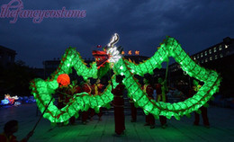Wholesale Brand New Chinese Spring Day Dark Blue Dragon Light DRAGON DANCE ORIGINAL red Dragon Folk Festival Celebration Costume