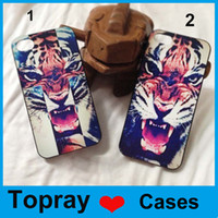 For Apple iPhone Plastic  2014 Coloful Tiger Pattern PC hard case back cover new arrival fashion items housing luxury For iPhone4 4s iPhone 5 5s