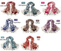 Wholesale Korean Style Fashion Women Super Long Polyester Tassel Scarves Airconditioner Cape Keep Warm