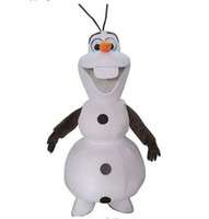 Wholesale Olaf Frozen Snowman Mascot Costume New Luxury Frozen Snowman Hundred Percent Real Shot