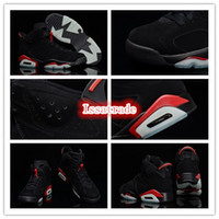 Wholesale Famous Trainers Retro VI History of Men s Sports Basketball Shoes Black Varsity Red Size