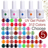 Wholesale 5PCS Gel Nail Polish Colors You Choose color Soak off UV Led gelishgel Shellac Hot sale
