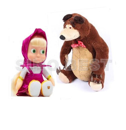 Wholesale Set of toys Talking Singing Masha and bear Russian Anime Figure Dolls For Girls Musical Toys for Children Kids Christmas Birthday Gifts