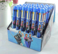 Wholesale 2014 frozen children pen color pen frozen pen Hot Romance ballpoint ELSA ANNAsnow36pcs box