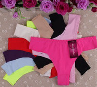 Wholesale Ice silk appeal underwear T sexy underwear Summer detonation model Pure color ladies underwear