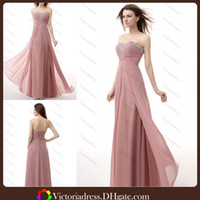 Reference Images Sweetheart Chiffon 2014 Simple Elegant Chiffon Customize Your Own Prom Dress A Line Sweetheart Neck Beaded Floor Length Corset Evening Dresses