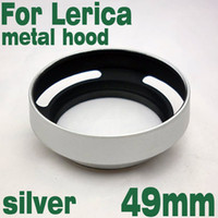 Wholesale 49mm mm Silver Metal Tilted Vented Lens Hood shade for Leica M LM