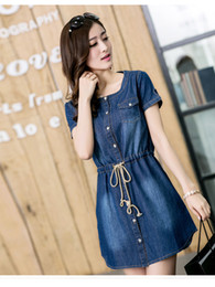 Wholesale new summer maternity dress big loose denim jeans dress code M L XL XXL XXXL XXXXL XXXXXL