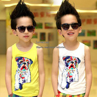 Boy Summer 100% Cotton Children Tank Tops Boys Clothes Sleeveless T Shirt Boys Tank Tops Kids Tshirts Boy Vest Children Condole Belt Kids Tank Tops Child Clothing
