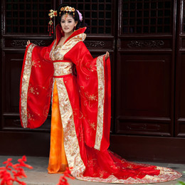 Wholesale Han Tang Royal Fairy costume dress costumes stage clothes Chinese wedding bride costume studio theme clothing