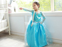 TuTu Summer A-Line pre-order frozen elsa dress girl princess dress summer longs frozen elsa costume kids longsleeve diamond dress Elsa Costume dress hot sale