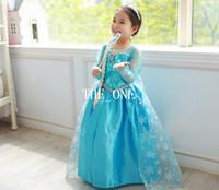 Wholesale pre order frozen cosplay elsa frozen snow queen elsa cosplay costume dress victorian princess dress Snow Queen Dress frozen princess costume