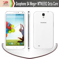 WCDMA Japanese, Serbian, Korean etc Android Goophone S4 mega+ mtk6592 octa core 1.7Ghz smartphone: 6.5