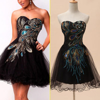 Wholesale Black Charming Strapless Crystal Sequins Mini Prom Dresses Short A line Shining Lace up Tiered Net Pretty Homecoming Gowns SD039