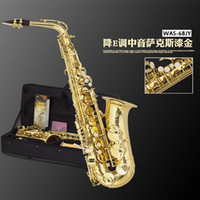 Wholesale Original Henlucky WAS JY E flat alto saxophone drop eb musical instrument professional saxe airducts handmade flower Sax Saxofone
