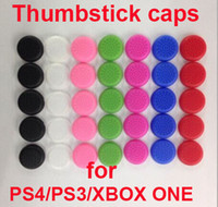 for ps4 ps3 xbox one xbox 360   500pcs lot DHL free shipping Soft TPU Thumbsticks cap Thumb stick caps Joystick covers Grips cover for PS3 PS4 XBOX ONE XBOX 360 controllers